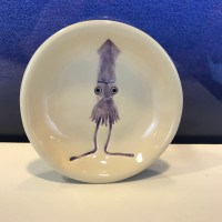 "Lorna Newlin Purple Squid Dish 4"" Diameter (representative)"