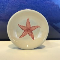 "Lorna Newlin Red Starfish Dish 4"" Diameter (representative)"