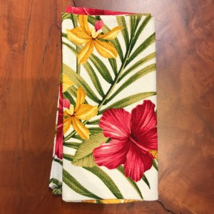 "Maui Potpourri Retro Bark Cloth Napkin 17""x17"" (representative) #B"