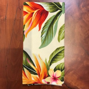 "Maui Potpourri Retro Bark Cloth Napkin 17""x17"" (representative) #C"