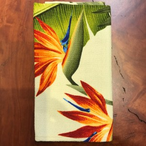 "Maui Potpourri Retro Bark Cloth Napkin 17""x17"" (representative) #D"