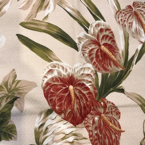 "Maui Potpourri Retro Bark Cloth Tea Towel 28""x17"" (representative) #A"