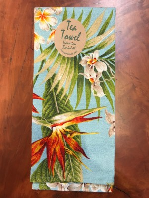 "Maui Potpourri Retro Bark Cloth Tea Towel 28""x17"" (representative) #C"