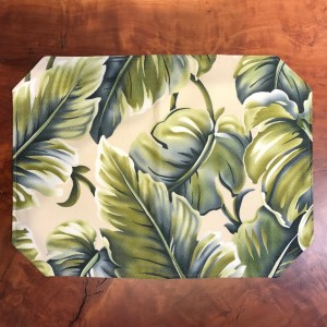 "Maui Potpourri Reversible Bark Cloth Placemat 16.5""x12.25"" (representative)"