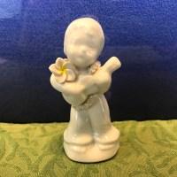 Peter Okimoto Porcelain Ukulele Boy 4Hx2.5W (representative)