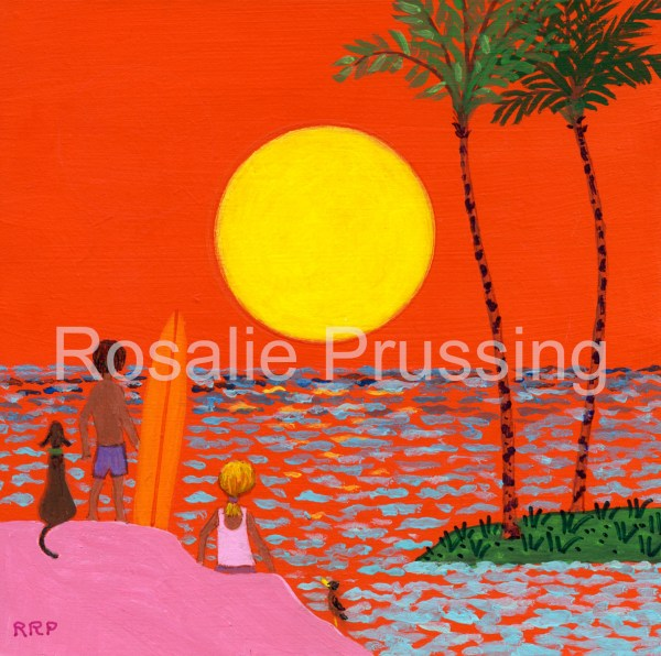 Rosalie Prussing Red Sunset Hawaii