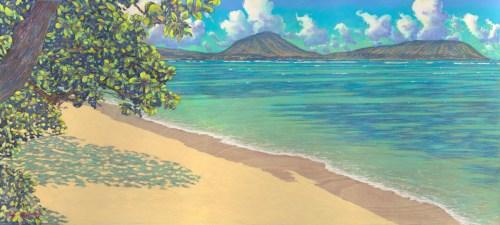 'Koko Head from Kahala Beach' by Russell Lowrey, Giclée Print, custom sizes