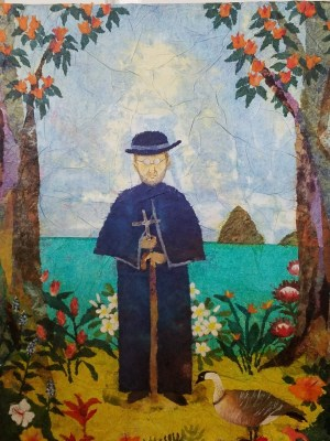 'Father Damien' by Hiroko Shoultz Print, custom sizes