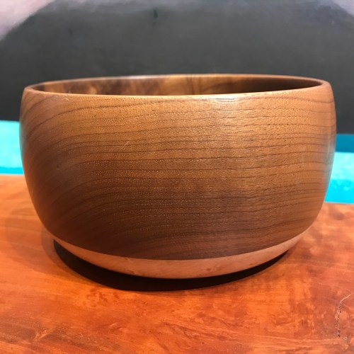 "John Berthiaume Walnut & Maple Bowl 3.25""H x 6""D"
