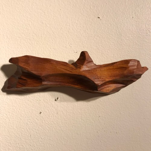 "Carved Koa Hawaiian Island Chain by Greg Eaves Approximately 30"" x 60"" (Representative) $525"
