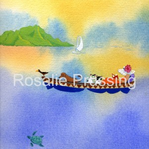 Hawaiian Escape Rosalie Prussing Giclée Print, custom sizes