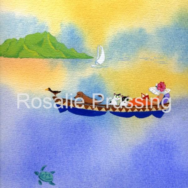 Hawaiian Escape Rosalie Prussing Giclée Print, custom sizes