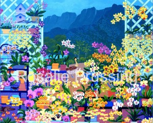 Koolau Gardens Rosalie Prussing Giclée Print, custom sizes