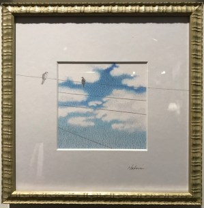 "'Palolo World View, Wired In and Out' by Noelani Block Original Pencil 8""x 8"" framed $360"