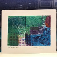"""'After the Rain' Monoprint by Linda Spadaro 8""""x 11"""" matted $25"""