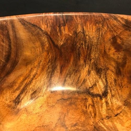 """'Oahu Koa Bowl' by John Berthiaume 4.5""""H x 7.5""""D $450"""