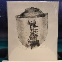 """'One Scoop Sticky' Original Monoprint by Anne Irons 13""""x 11"""" matted $95"""