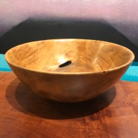 "Plumeria Bowl by Carl Sherry 4""H x 10""D $350"