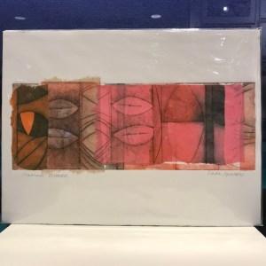 "'Summer Breeze' Original Monoprint by Linda Spadaro 11""x 15"" matted $60"