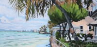"'South Shore Morning' by Brenda Cablayan Original Acrylic 10""x 20"" $1700"