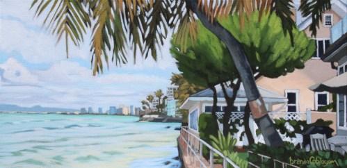 "'South Shore Morning' by Brenda Cablayan Original Acrylic 10""x 20"" $1700"