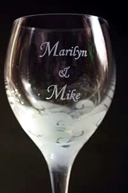 Engravings for Hawaiian Etched Glass, Wine Glasses and Champagne Flutes