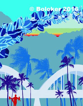 "'Daybreak Haleiwa"" Print by Judd Boloker"
