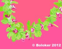Green Orchid, Lei Print by Judd Boloker, various sizes