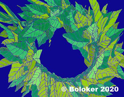 Kukui Leaf Haku, Lei Print by Judd Boloker, various sizes