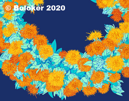 Safflower Lei Print by Judd Boloker, various sizes