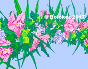 Spring Orchid Haku, Lei Print by Judd Boloker, various sizes