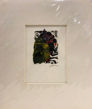 "'Objection' Original Monoprint by Anne Irons 12.75""x 10.75"" matted $40"