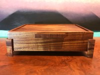 "Small Koa Footed Box 11""x 8""x 3.25"" (representative) by Honolulu Woodworking Designs $315"