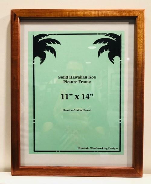 "Solid Koa Frame 11""x 14"" (representative) by Honolulu Woodworking Designs $93.50"