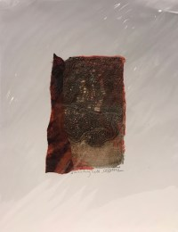"'Swirling Nets' Original Monoprint by Anne Irons 14""x 11"" $55"