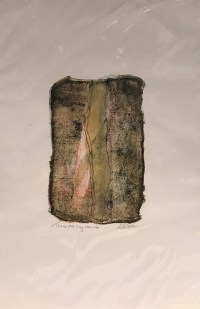 """'Time on My Hands' Original Monoprint by Anne Irons 18""""x 12"""" $80"""