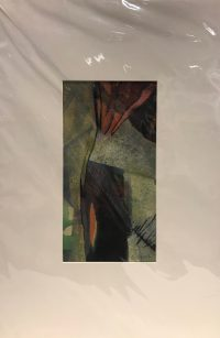 """'Uncovered' Original Monoprint by Anne Irons 19.5""""x 13"""" matted $150"""