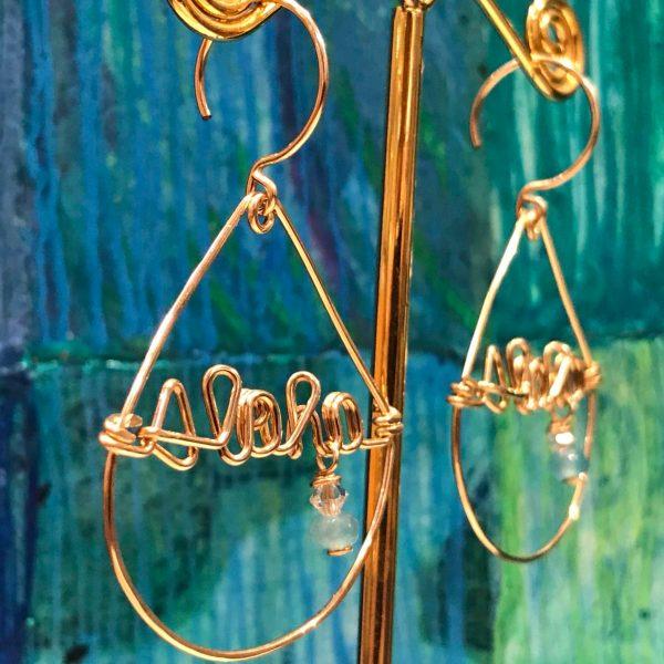 'Aloha Teardrop Earrings' with Amazonite by Leinai'a $78