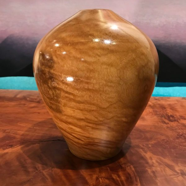 "Dragon Eye Hollow Form Vase by Roger Hirlinger 8""H x 7""D $130"