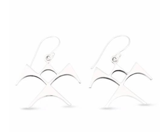 'Iwa Ne'ekau Earrings Large by Sonny Ching and Paradisus $100