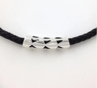 Kapa Bead - Niho Mano Leather Bracelet Light by Sonny Ching and Paradisus $125