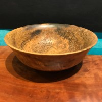 "Mango Bowl by Andy Cole 2""H x 5""D $160"