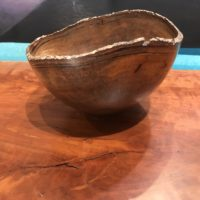"Natural Edge Mango Bowl by Andy Cole 5""H x 7.5""D $250"