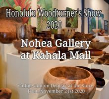 Honolulu Woodturner's Show 2020