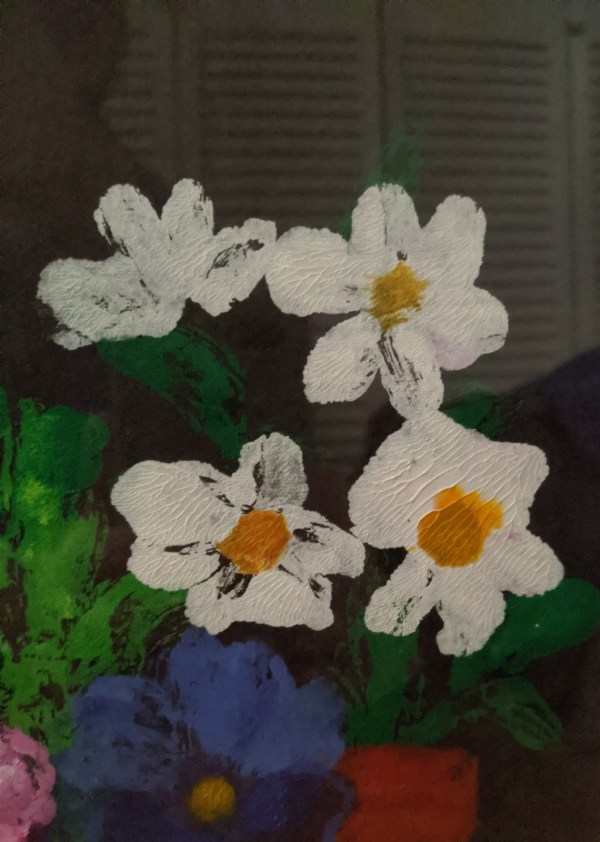 """'Full Bloom' Acrylic by Rosalie Prussing, Image size: 8.5"""" x 11.5"""", Framed size: 12.5"""" x 15.5"""" $595"""