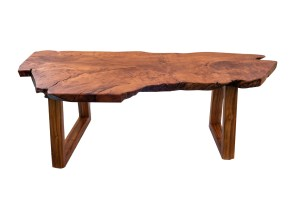 "Lychee Bench or Table, Opiuma Legs by Dave Gagnon 18""H x 55""W x 25""D $2850"