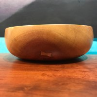 "Neem Bowl by Tom Young 2.25""H x 6""D $150"