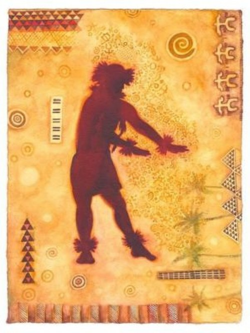 'Hula Kane' watercolor by Cindy Conklin, Giclée Print, custom sizes