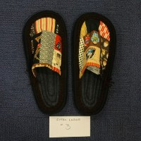 Ione Kanetake Handmade Slippers from Hilo Hawaii; Outside length 11.5 ; toe-to-heel 9.75 #3 $78