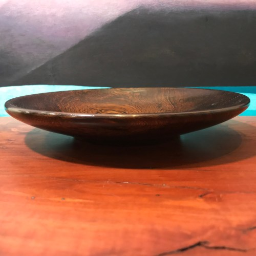 "Pheasant Wood Plate 1.5""H x 9""D by John Berthiaume $150"